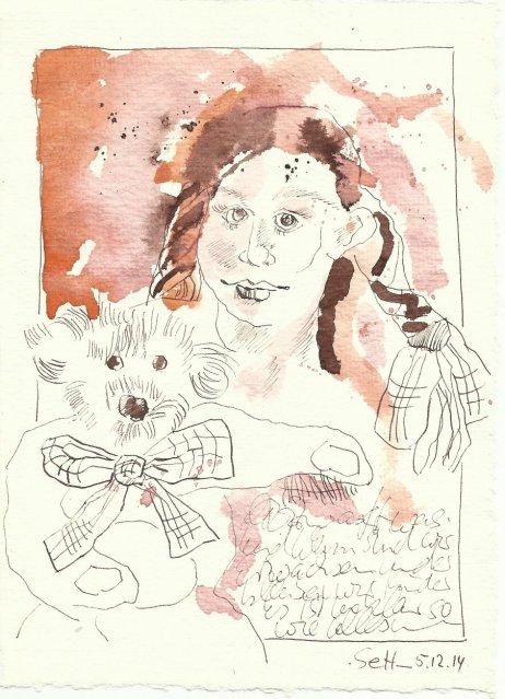 Tagebucheintrag Susanne Haun 05 12 2014 (c) Zeichnung von Susanne Haun