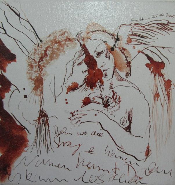 Gespräch (c) Zeichnung von Susanne Haun