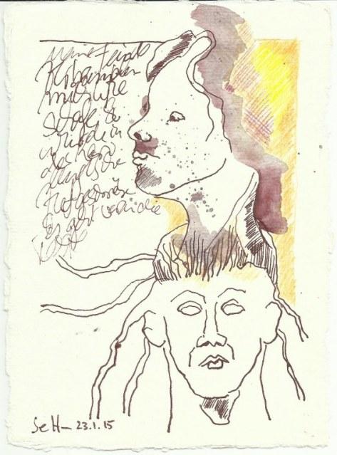 Karolingisch (c) Zeichnung von Susanne Haun