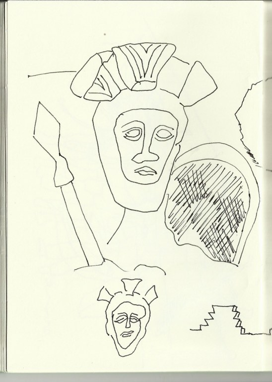 Schlussstein (c) Zeichnung von Susanne Haun