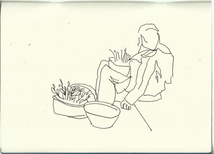 In Marokko (c) Zeichnung von Susanne Haun