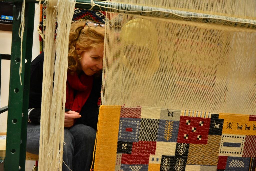 Marokko – Berberteppiche – Zeichnung und Foto von Susanne