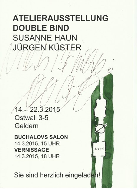 Einladung Ausstellung double bind in Geldern - Susanne Haun und Jürgen Küster