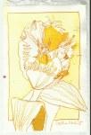 Gelbe Tulpe (c) Zeichnung von Susanne Haun 0001