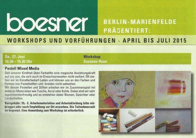 Susanne Haun bei Boesner Workshop Pastell