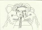 Patheon und der Widder (c) Zeichnung von Susanne Haun