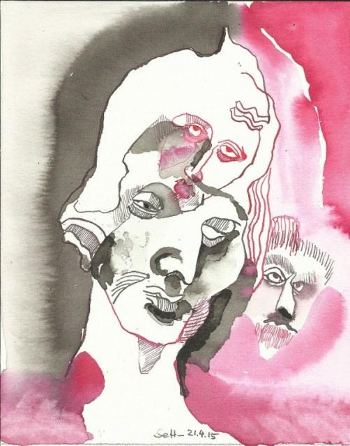 Das Ich Es Ueber-Ich (c) Zeichnung von Susanne Haun