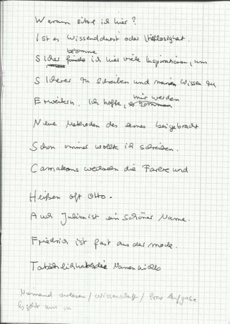 Wissenschaft (c) Text von Susanne Haun