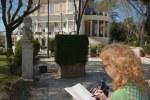 Villa Borghese Susanne Haun zeichnet (c) Foto von M.Fanke