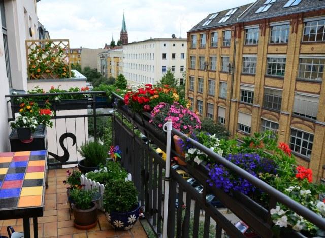 Balkon Susanne Haun Atelierwohnung (c) Foto von M.Fanke