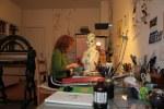 Beim Arbeiten am Objekt Maggie (c) Selbstfoto von Susanne Haun