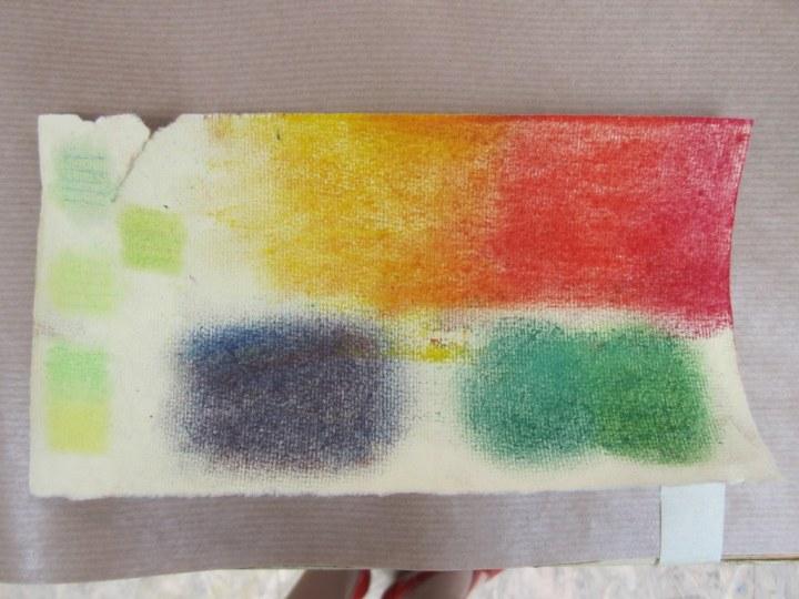 Impressionen vom Pastell Mixed Media Workshop bei boesner (c) Foto von Susanne Haun