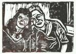 Ulli und ich (c) Linolschnitt von Susanne Haun 0004