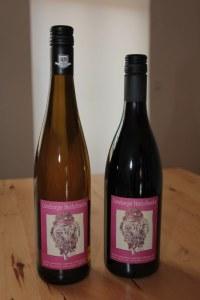 Meine Heidschnucke auf den Etiketten des Weinhandelshaus Brinkmann (c) Foto von Susanne Haun