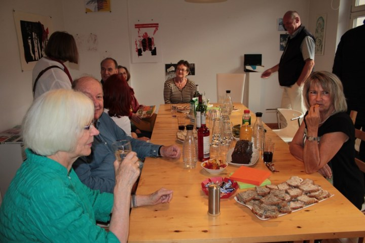 6. KunstSalon am Dienstag Gast Juergen Kuester (c) Foto von Susanne Haun