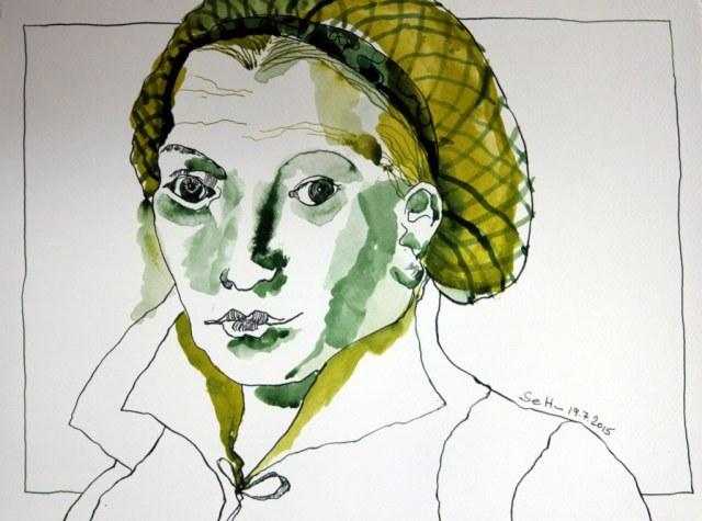 Katharina von Bora (c) Zeichnung von Susanne Haun