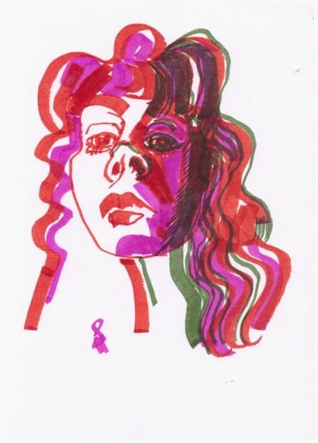 Selbst (c) Zeichnung mit Marker von Susanne Haun