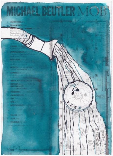Weggegossen No. 2 (c) Zeichnung von Susanne Haun