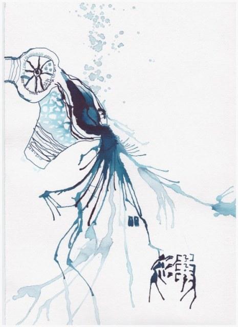 Weggegossen No. 3 a  (c) Zeichnung von Susanne Haun