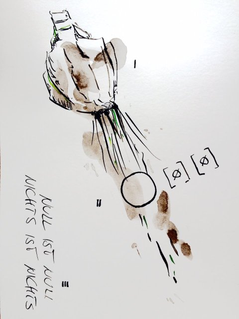 Weggegossen No. 3  (c) Zeichnung von Jürgen Küster