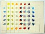 Farbkarte mit Buntstiften auf Hahnemühle Antik Ingres (c) Zeichnung von Susanne Haun