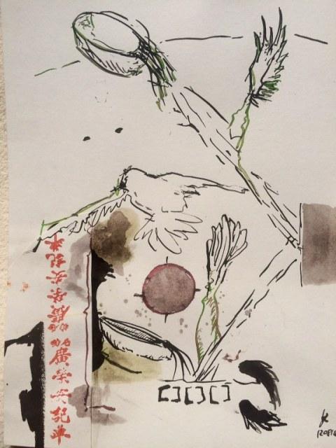 Weggegossen No. 12 b  (c) Zeichnung von Jürgen Küster