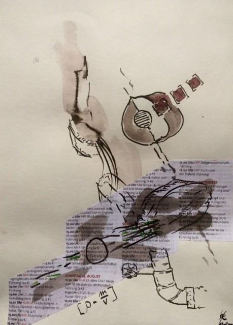 Weggegossen No. 13 b (c) Zeichnung von Jürgen Küster