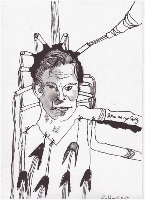 Weggegossen No. 15 (c) Zeichnung von Susanne Haun