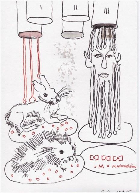 Weggegossen No. 16 (c) Zeichnung von Susanne Haun