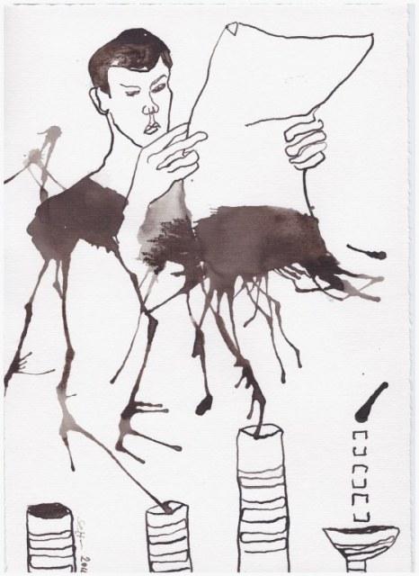 Weggegossen No. 17  (c) Zeichnung von Susanne Haun