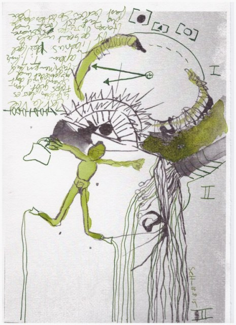 Weggegossen No. 19 (c) Zeichnung von Susanne Haun