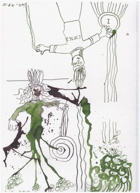 Weggegossen No. 20 (c) Zeichnung von Susanne Haun