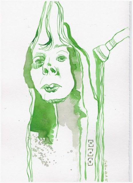 Weggegossen No. 21 a (c) Zeichnung von Susanne Haun