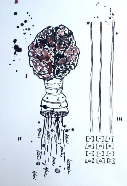 Weggegossen No. 21 b (c) Zeichnung von Jürgen Küster