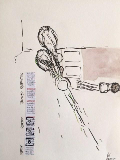 Weggegossen No. 5 a (c) Zeichnung von Jürgen Küster