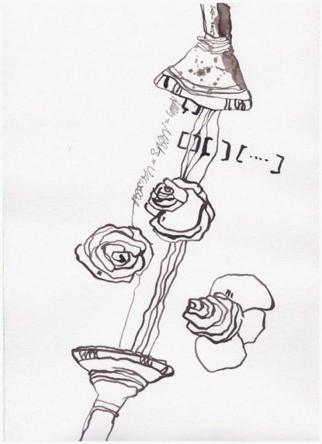 Weggegossen No. 5 (c) Zeichnung von Susanne Haun