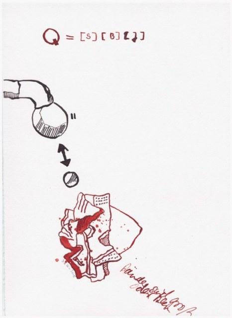 Weggegossen No. 7  (c) Zeichnung von Susanne Haun