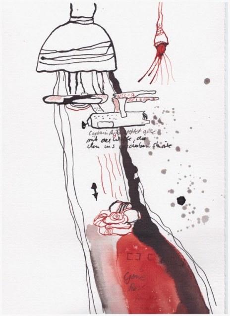 Weggegossen No. 8 a (c) Zeichnung von Susanne Haun