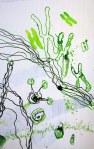 Chromosomen (c) Entstehung Zeichnung auf Leinwand von Susanne Haun