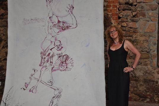 Susanne Haun, Ausstellung Artenvielfalt, 2014 (c) Foto von M.Fanke