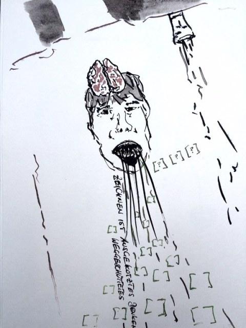 Weggegossen No. 22 a (c) Zeichnung von Jürgen Küster