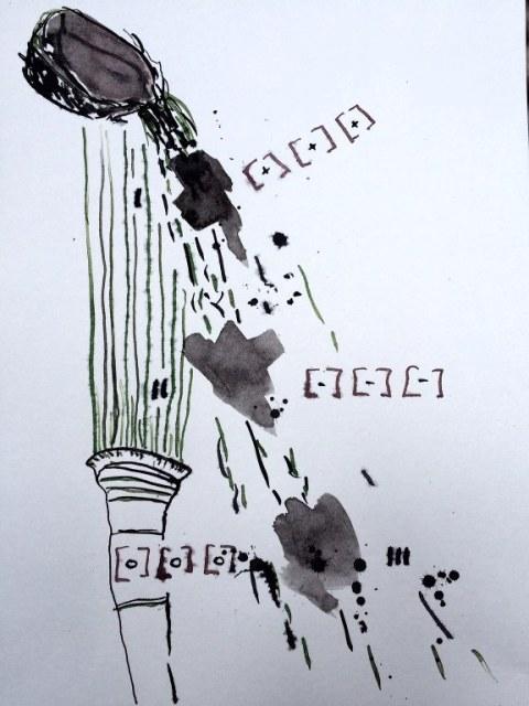 Weggegossen No. 22 c (c) Zeichnung von Jürgen Küster