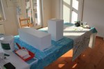 ch streiche erst die Sockel und während sie trocknen, zeichne ich (c) Foto von Susanne Haun