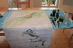 Entstehung der Leinwand Naturbeobachtung (c) Zeichnung vn Susanne Haun