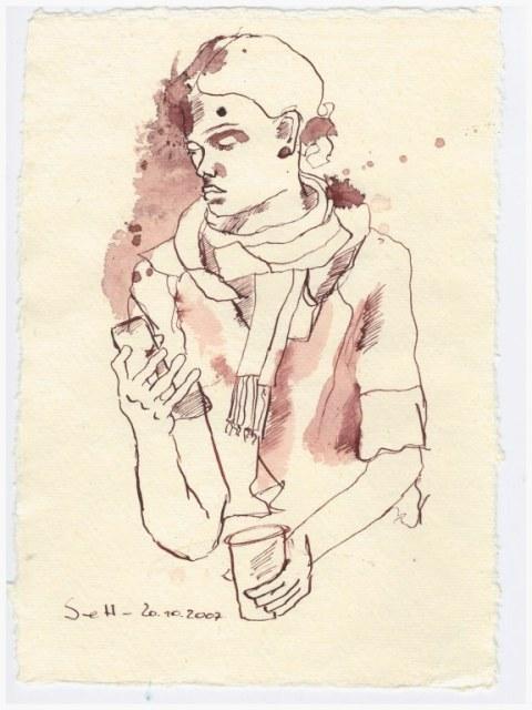 Tagebucheintragung 2007 (c) Zeichnung von Susanne Haun