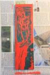 Druckstock Zusammenbruch - Zusammenhang (c) Linolschnitt von Susanne Haun