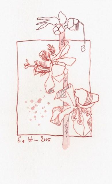 21 Florales (c) Zeichnung von Susanne Haun