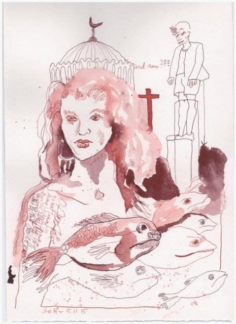 Das Jahr Null 15.11.2015 (c) Zeichnung von Susanne Haun