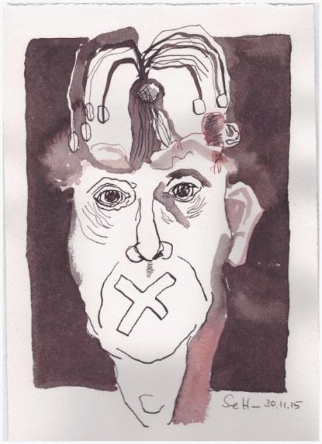 Das Jahr Null 30.11.2015 (c) Zeichnung von Susanne Haun