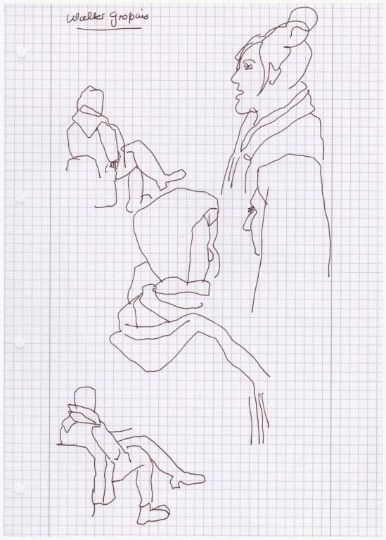 Im Hörsaal - Skizze von Susanne Haun